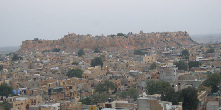 Broader view of Jaisalmer Fort from Sunset Point