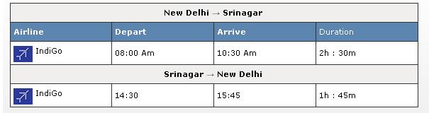 Kashmir Flights