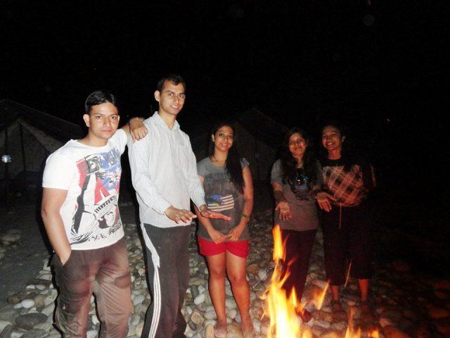 Bonfire at Alaknanda Rafting-Camp