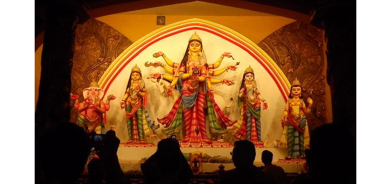 A Durga Puja in Kolkata, West Bengal