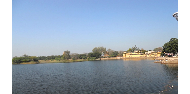 lake at Khajuraho