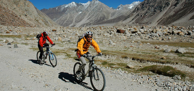 Mountain biking in Lahaul- Spiti region