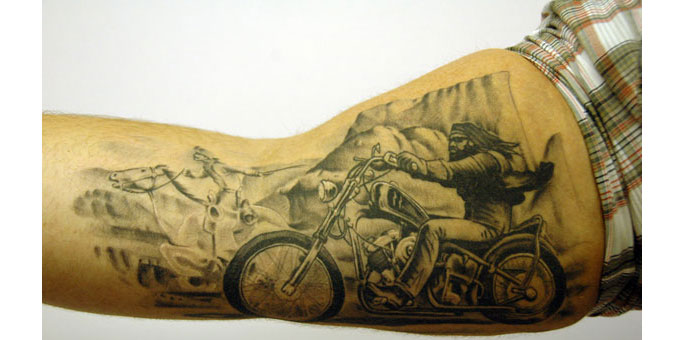 Motor Tattoo Designs Bicycle / motor bike tattoo