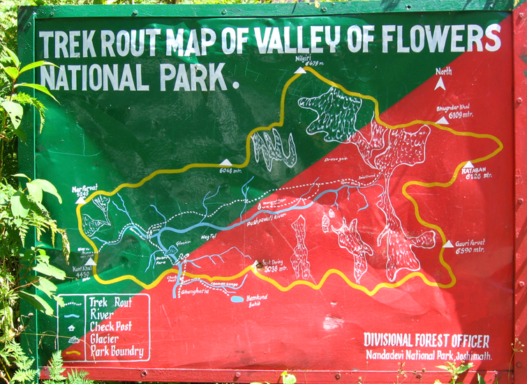 Valley of Flowers National Park Route Map
