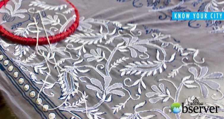 Chikan Work Bed Sheet and Table Cloth