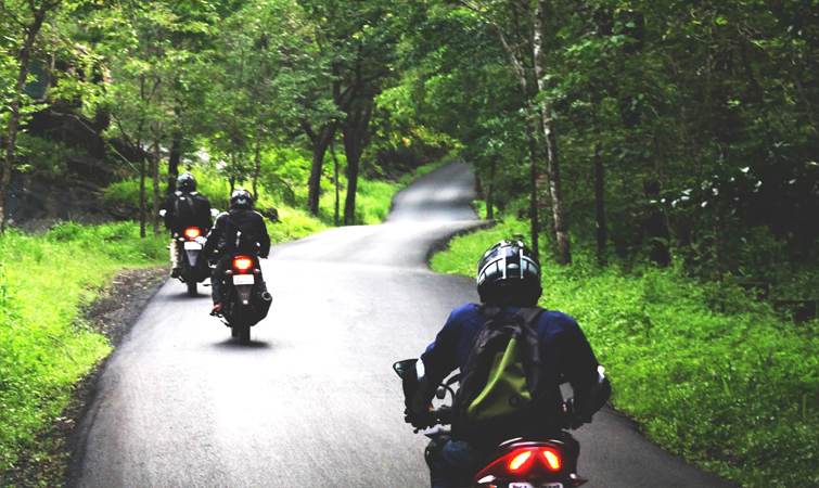 Bikers go for a ride