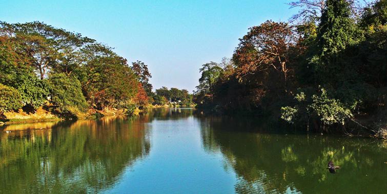 Lake in Pobitora Wildlife Sanctuary