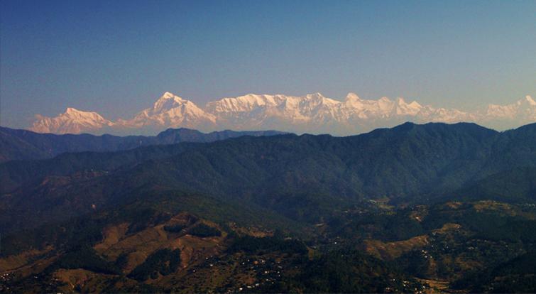 Himalayas View from Majkhali