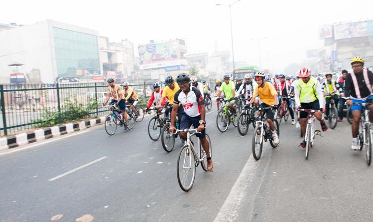 Cycling Delhi