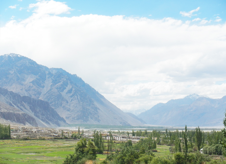view-of-diskit-town-nubra-valley