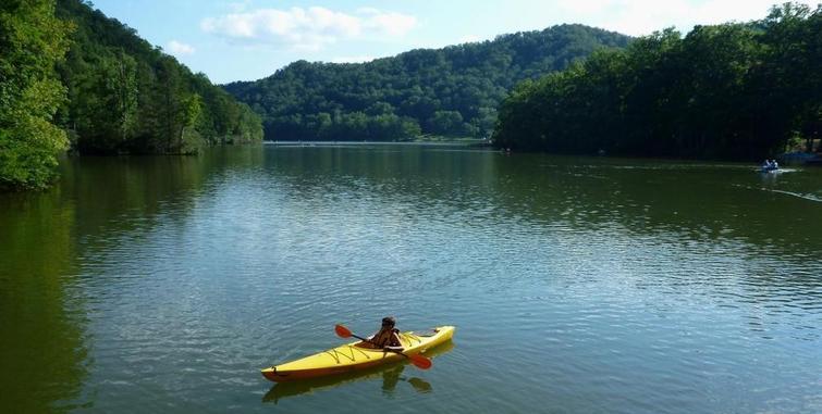 Kayaking on Naukuchiatal Lake