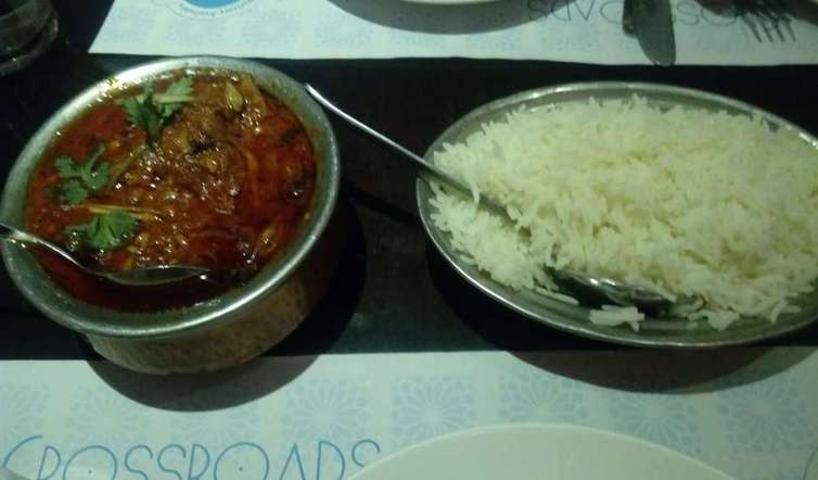 Laal Maas and Rice
