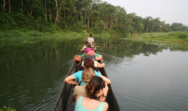 Boating in Narayani River