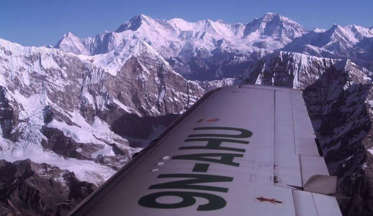 Flight over Mount Everest