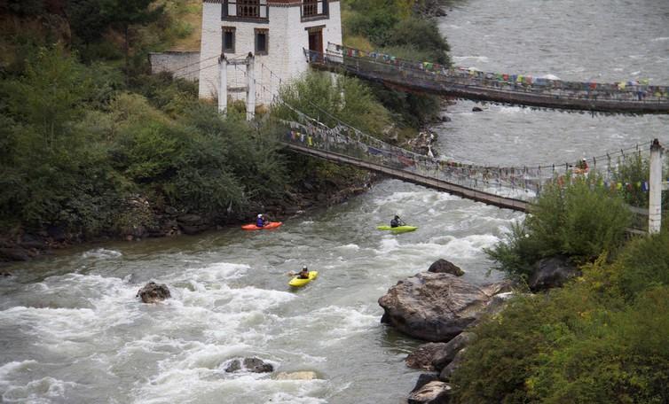 Kayaking in Paro Chhu