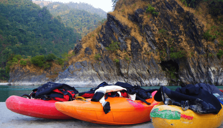 Kayaks on the Seti River
