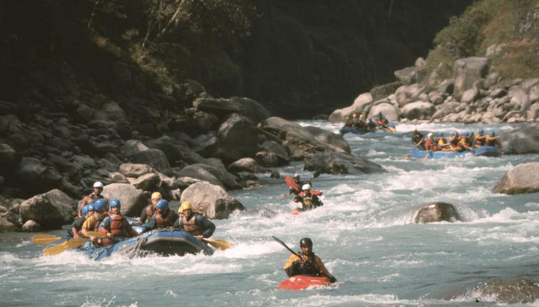 Rafting the Bhote Koshi