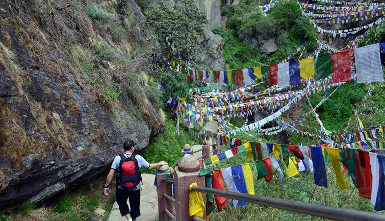 trekking to Taktsang monastery