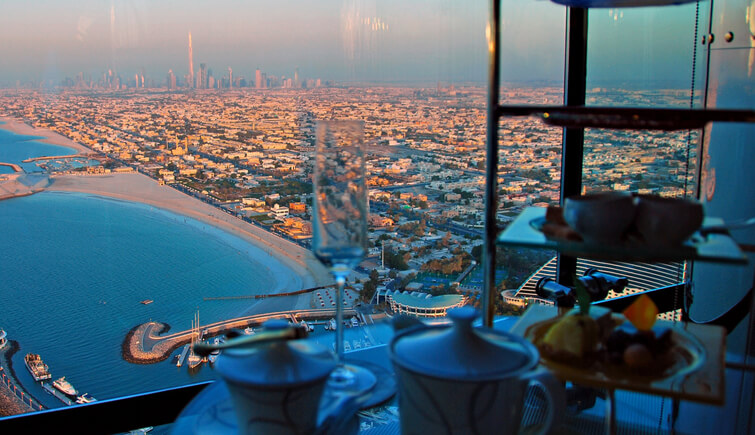 Burj Al Arab for an afternoon tea in Dubai