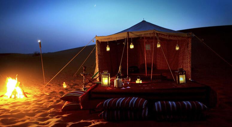 Evening Desert Camping in Abu Dhabi