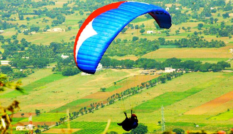 Paragliding at Yelagiri
