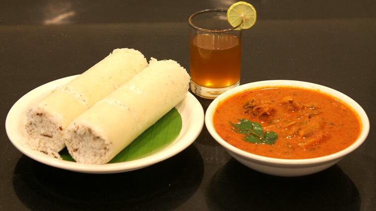 Puttu and Kadala Curry