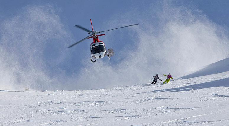 Heli skiing, new zealand