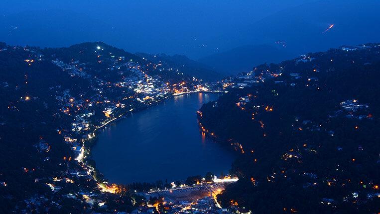 Nainital Bird eye View of Nainital from Naina Peak