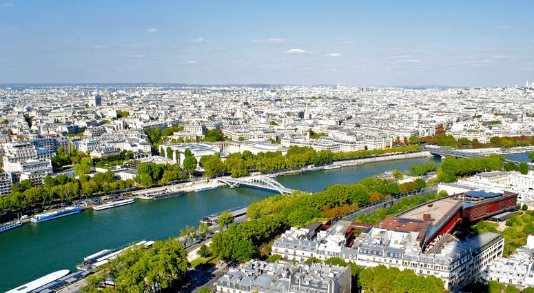 River Seine and Paris, France