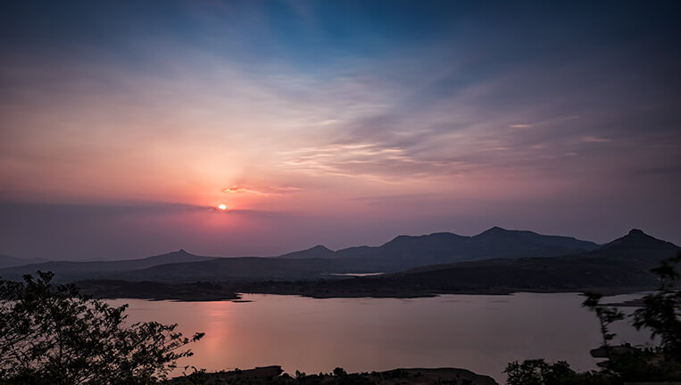 Tungi Lake- Sunrise from Club Mahindra Tungi Resort, Lonavala