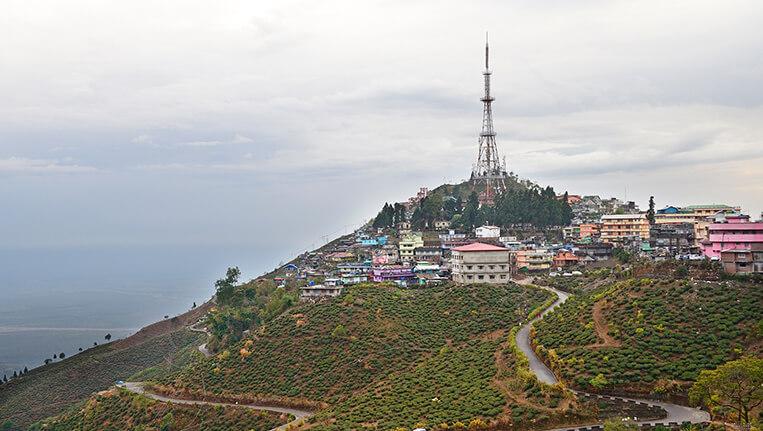 West Bengal India -View of Kurseong town