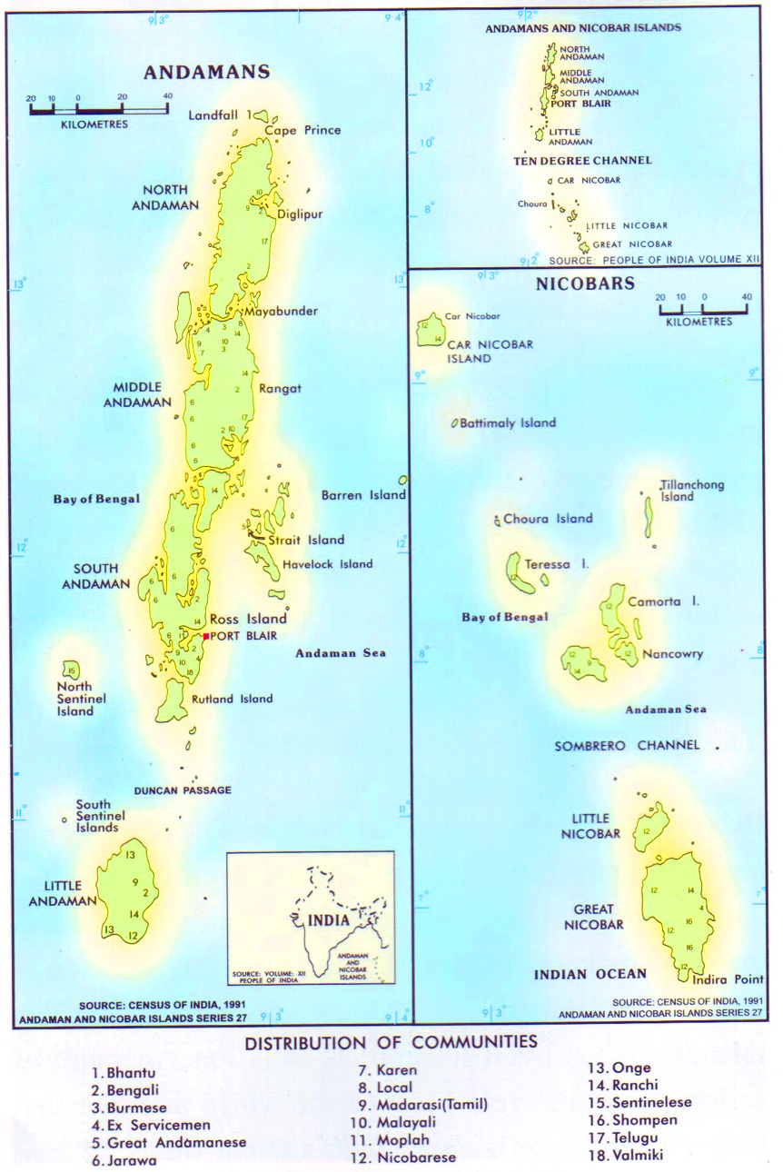 Tourist Map Of Andaman And Nicobar Islands - Islands map
