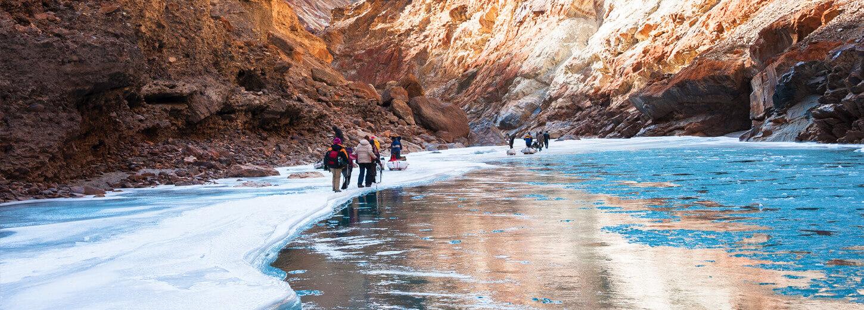 Frozen River Chadar Trek Winter Snow Trekking Tour In Ladakh