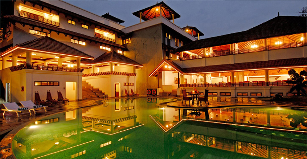 The elephant court thekkady 5 star luxury resort for Luxury hotels all over the world