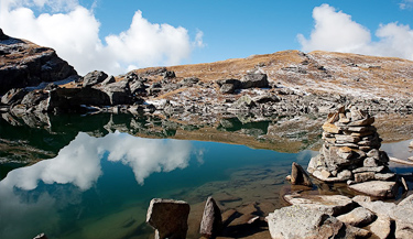 Masar Tal Lake Trek via Khatling Glacier