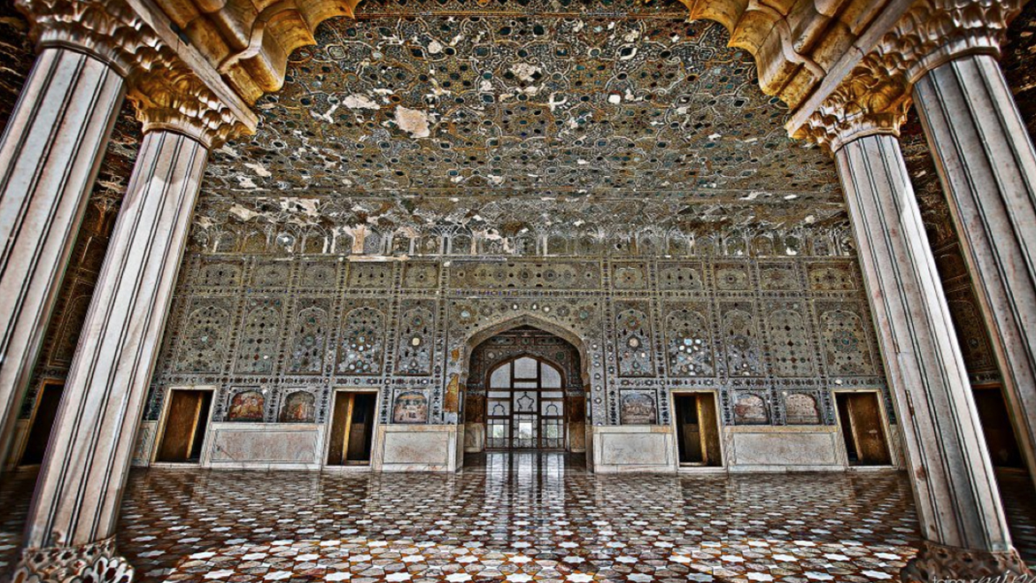Image result for agra fort sheesh mahal