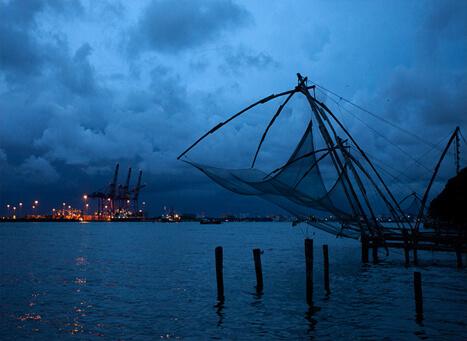Chinese Fishing Nets Kochi Most Photographed Sight In Kochi