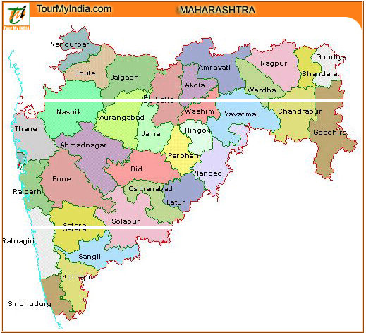 Maharashtra Tourism Map Maharashtra Tourism Map for Travelers   Maharashtra Travel Information