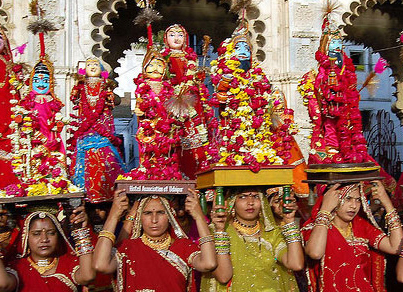 Information on the Widely Celebrated Gangaur Festival in Rajasthan | RJ  Tourism