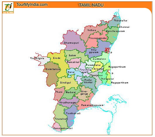 Map Of Tamilnadu Tourist Map of Tamil Nadu to Travel in The State Map Of Tamilnadu
